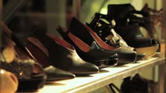 High Heel Shoes in a Mall Stock Footage