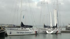 Tall Ships Challenge Yachts in Harbour Stock Footage
