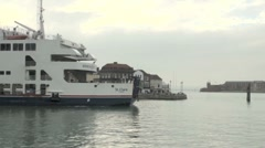 Wightlink Ferry Leaving Portsmouth Harbour Stock Footage