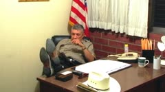 Small Town Sheriff In Office 3 Stock Footage