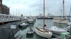 Gunwharf Quays Harbour, Portsmouth, England Stock Footage