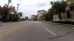 High speed drive through Dallas Stock Footage