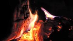 Campfire close-up Stock Footage