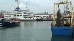 IOW Ferry at Gunwharf Quays, Old Portmouth Stock Footage