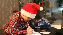 Letter to Santa Stock Footage