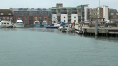 Camber Quay, Old Portsmouth, England Stock Footage