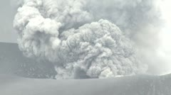Volcanic Eruption Spews Ash Into Sky Stock Footage