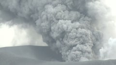 Ash Erupts From Crater Of Kirishima Volcano Stock Footage