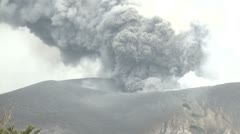 Ash Cloud Blasts Into The Sky During Volcanic Eruption Stock Footage