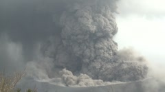 Large Volcanic Ash Cloud Erupts From Crater Of Kirishima Volcano Stock Footage