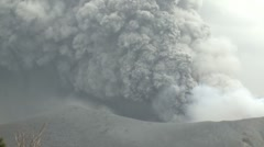 Vigorous Ash Eruption From Crater Of Kirishima Volcano Stock Footage