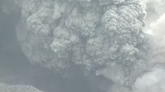 Ash Column Erupts Vigorously From Kirishima Volcano Stock Footage
