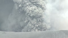 Kirishima Volcano Blasts Volcanic Ash From Its Crater Stock Footage