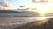Stock Video Footage of Alaskan Beach Sunset - Land's End