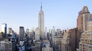 Empire State Building, Manhattan, New York, T/lapse Stock Footage
