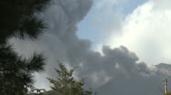 Volcanic Ash Drifts Across Sky From Sakurajima Volcano - stock footage