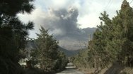 Stock Video Footage of Rural Road Leads To Erupting Volcano