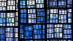 Background from blue rectangles Stock Footage