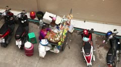 Mobile Kitchen in Thailand Stock Footage