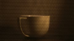 Cup of mik turning inside a microwave oven Stock Footage