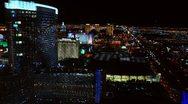 Stock Video Footage of Las Vegas Timelapse, Night Through Day, Behind the Strip
