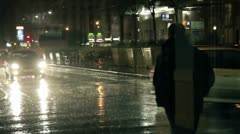 Raining in city Stock Footage