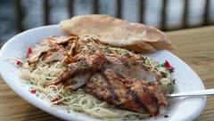 Chicken Pasta Stock Footage