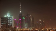 Time Lapse 1080p: Night Dubai, United Arab Emirates Stock Footage