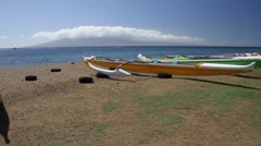 outrigger canoes - stock footage