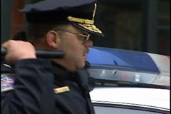 DC Police Chief Charles Ramsey at protest. Stock Footage