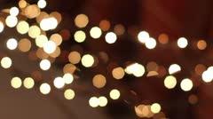 Christmas Decoration lights Stock Footage
