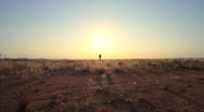 Karoo Sunrise walking towards camera, GFHD Stock Footage