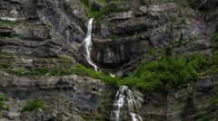 Bridal Veil Falls in Provo Canyon, Utah. Stock Footage