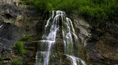 Part of Bridal Veil Falls in Provo, Utah. Stock Footage