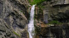 Tilt shot of the full height of Bridal Veil Falls in Provo, Utah. Stock Footage