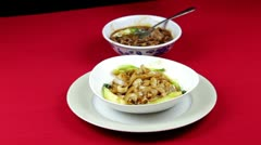 Chinese Style Noodles Stock Footage