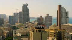 Tel Aviv and the Mediterranean Sea Stock Footage