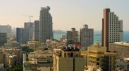 Stock Video Footage of Tel Aviv and the Mediterranean Sea