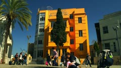 Bialik Square in Tel Aviv Stock Footage