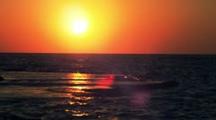 The sunset at Dor Beach Stock Footage