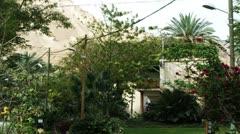 an oasis kibbutz residence - stock footage