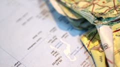 Old Maps Stock Footage