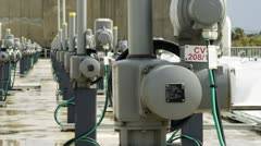 Desalination plant meters Stock Footage