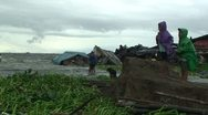 Stock Video Footage of Flood Waters Destroy Slum In Manila Philippines
