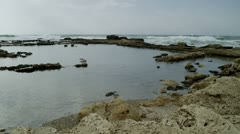 Panorama of ancient pool ruins Stock Footage
