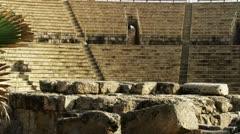 Theater at Caesarea Stock Footage
