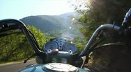Riding Motorcycle Stock Footage
