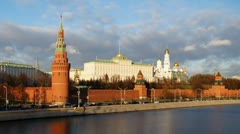 Grand Kremlin Palace in Moscow, Russia Stock Footage