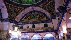 Interior of an Akko, Israel mosque. Stock Footage