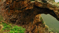 Panorama of Adamit Park Cave arch Stock Footage